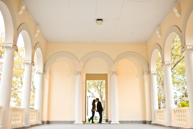 Our engagement session in Hoboken, photo by Hoffer Photography