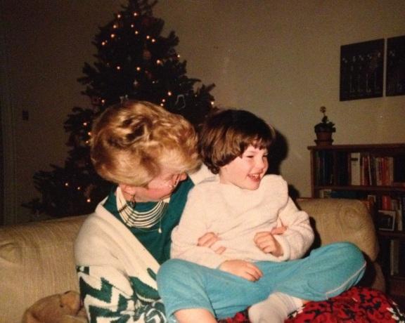 Me and Gram, Christmas 1988