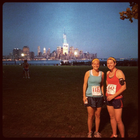 Diane and me in Hoboken, after finishing my first 5K!