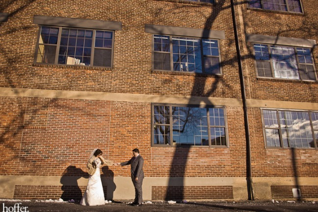 Erika-Lenzi-wedding-first-look-downtown-lancaster
