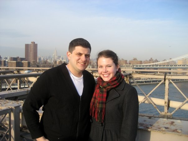 At the Brooklyn Bridge before I moved south, February 2009